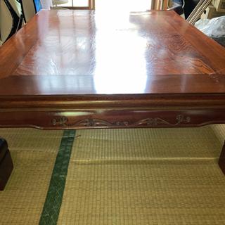 差し上げます!木製座卓【若干の面の浮き上がり箇所有り】