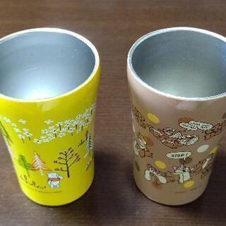 プーさん、チップ&デールのステンレスコップ(2個セット❗️) - 島尻郡