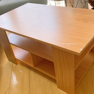 【ネット決済】ローテーブル 収納抜群✨ 天板以外美品⭐︎飲食利用...