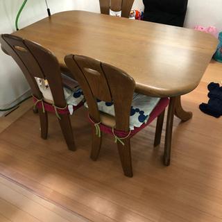 ダイニングテーブル 椅子4脚 浜本工芸