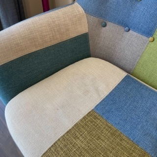 フランフラン 3人掛けパッチワーク ソファ - 家具