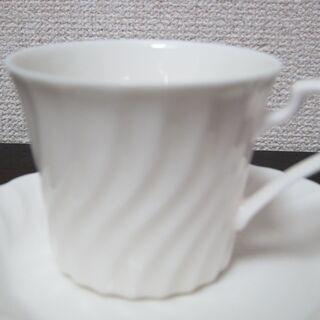 白いコーヒーカップ☆未使用 6客セット カップ&ソーサー - 中野区