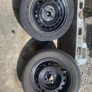 鉄ホイールタイヤセット 4本セット 14インチ 一本難あり