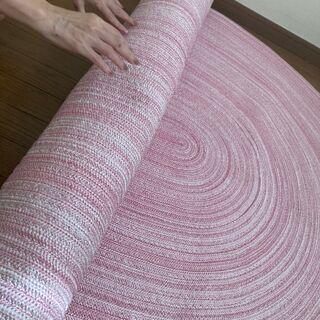 【ネット決済】ピンクのラグ・ラグマット ✨9/28日まで大量家具...
