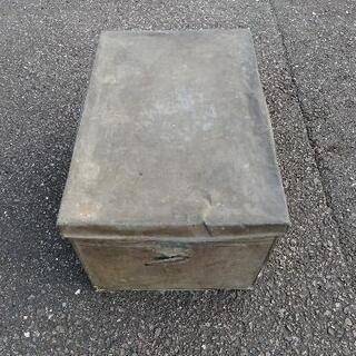 ブリキ 衣装箱 収納箱 小