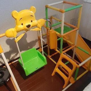 【ネット決済】プーさんの折り畳みブランコ滑り台ジャングルジム