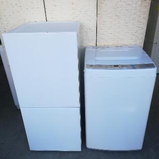 【送料・設置無料】⭐ツインバード冷蔵庫110L+アクア洗濯機4.5kg⭐JWH01の画像