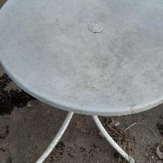 外 庭 アウトドア用 丸テーブル 折り畳み