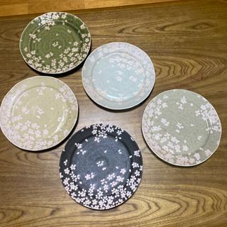 桜柄の陶器食器5枚セット!