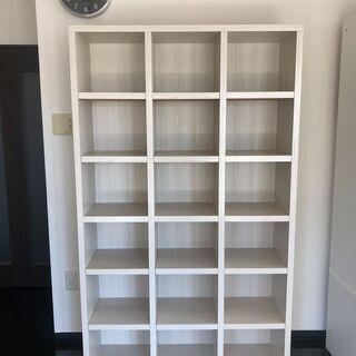 ニトリ オープン本棚(可動棚付き 幅約110cm 木目調ホワイト)