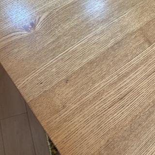 無印良品タモ材ダイニングテーブル - 家具
