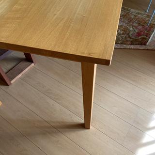 無印良品タモ材ダイニングテーブル