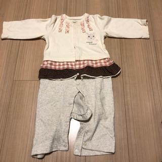 子供服 女の子80と90 秋冬用ロンパース - 子供用品