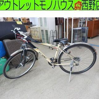 クロスバイク 3×7段変速 ベージュ TAKEDA ALL WA...
