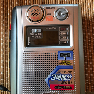 【ネット決済】アイワ カセットレコーダーTP-VS650