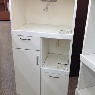 ホワイト 木製 キッチンボード【9650004】