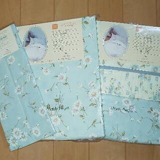 【布団カバー3点セット】シングル・花柄ブルー