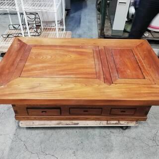 【092101値段交渉可】火鉢テーブル 囲炉裏テーブル 幅119㎝ 奥行74㎝ 高さ36㎝【引取限定】 - 家具
