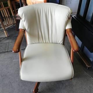 【092103値段交渉可】回転椅子 回転チェア ひじ掛け・キャスター付き【引取限定】の画像