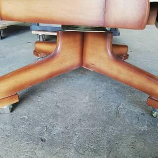 【092103値段交渉可】回転椅子 回転チェア ひじ掛け・キャスター付き【引取限定】 - 家具