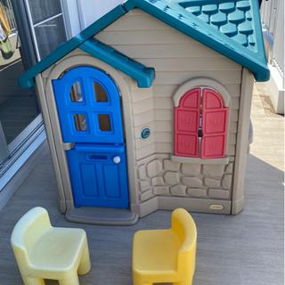 プレイハウス 大型遊具 椅子2脚付き