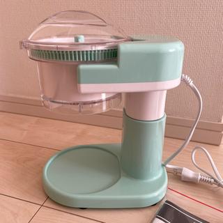 電動かき氷機(説明書、替刃付き) - 家具