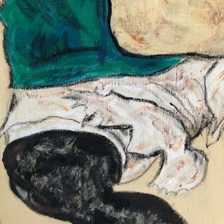 エゴン・シーレ『膝を曲げて座る女』模写 - 売ります・あげます