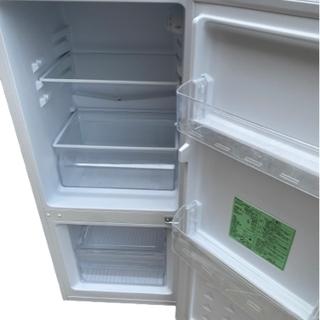 2019年製 YAMADASELECT(ヤマダセレクト) YRZC12G2 2ドア冷蔵庫 (117L・右開き) ホワイト (0921天) - 名古屋市