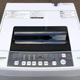 ㊲【6ヶ月保証付・税込み】美品 ハイセンス 5.5kg 全自動洗濯機 HW-T55C 20年製【PayPay使えます】 - 福岡市