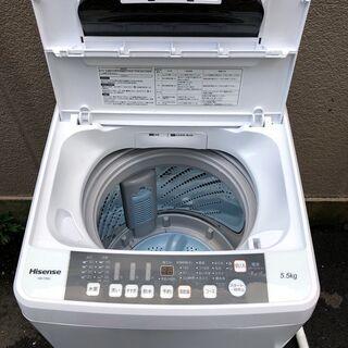 ㊲【6ヶ月保証付・税込み】美品 ハイセンス 5.5kg 全自動洗濯機 HW-T55C 20年製【PayPay使えます】 - 家電