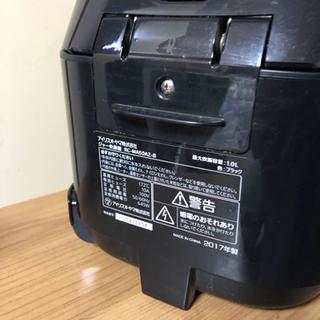 アイリス 炊飯器 マイコン式 5.5合炊き 2017年製 動作確認済 - 家電