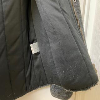 今週末処分!!値下げ!!ニットダウンジャケット ニットジャンバー Sサイズ ダークグレー - 服/ファッション