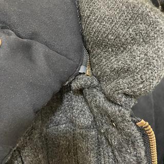 今週末処分!!値下げ!!ニットダウンジャケット ニットジャンバー Sサイズ ダークグレー - 売ります・あげます