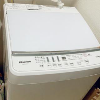 【引取先決定】Hisense 洗濯機 2018年製