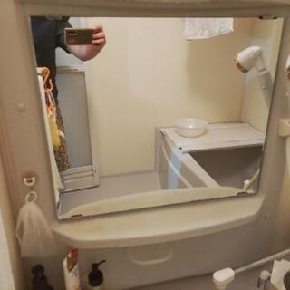 【ネット決済・配送可】お風呂と洗面台のガラスがピカピカくもり止め施工