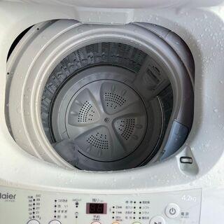 ネット決済可■当日翌日配送可■都内近郊無料で配送、設置いたします■2015年製 洗濯機 ハイアール 4.2キロ JW-K42H■HIR04 − 東京都