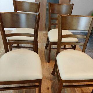 【無料】ダイニングチェア 4脚セット 椅子