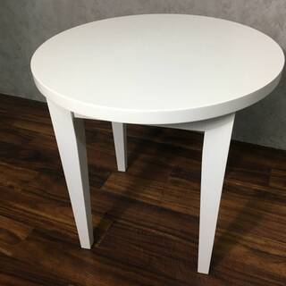 ⭕⭕⭕TH1/76 丸机 サイドテーブル モダン ホワイト 白 ...