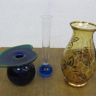 ガラス 花瓶 3点セット 一輪差し 花入れ 花器 フラワー…
