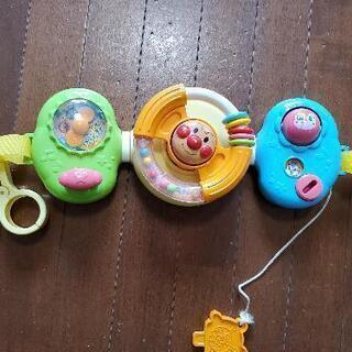 アンパンマン ベビーカーに取り付けられるハンドル玩具