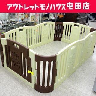 ベビーサークル 幅190 ベビールーム プレイヤード 組立て 扉...