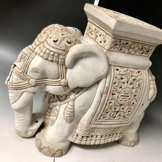 ⭕⭕⭕NG1/53 象 置物 花台 鉢置き 陶器 オブジェ イン...