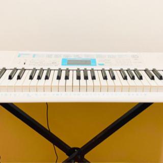 【CASIO(カシオ) 61鍵盤 電子キーボード】120曲内蔵