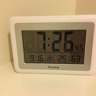 Formia デジタル電波時計(置掛兼用)