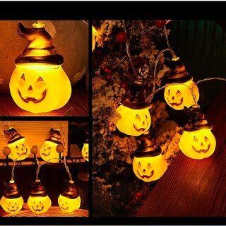 ハロウィン 装飾 飾り パンプキンライト 5m 20球 かぼちゃライト - 売ります・あげます