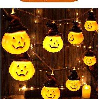 ハロウィン 装飾 飾り パンプキンライト 5m 20球 かぼちゃライト - 生活雑貨