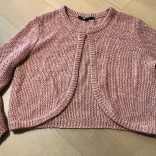 ピンクのニットカーディガン ANAYI