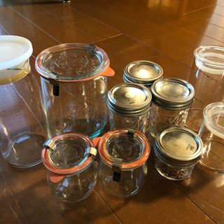 ガラスジャー、保存瓶、無印良品、WECK、BALL、HAR…