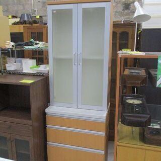 食器棚 縦長サイズ 幅70cm×高さ190cm 2枚扉 スリムキ...