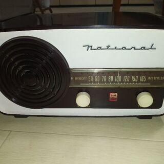 ナショナル昭和レトロ真空管ラジオ DL-340
